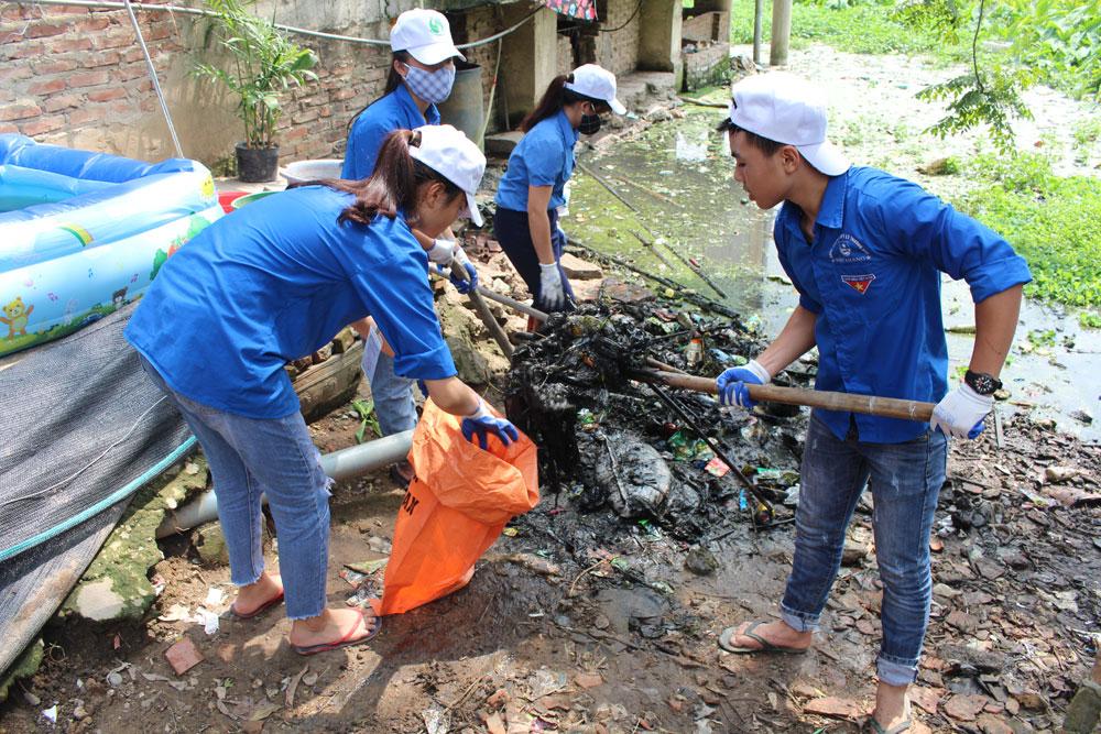 Ngày Môi trường thế giới, Huyện đoàn Việt Yên, đoàn viên thanh niên, bảo vệ môi trường