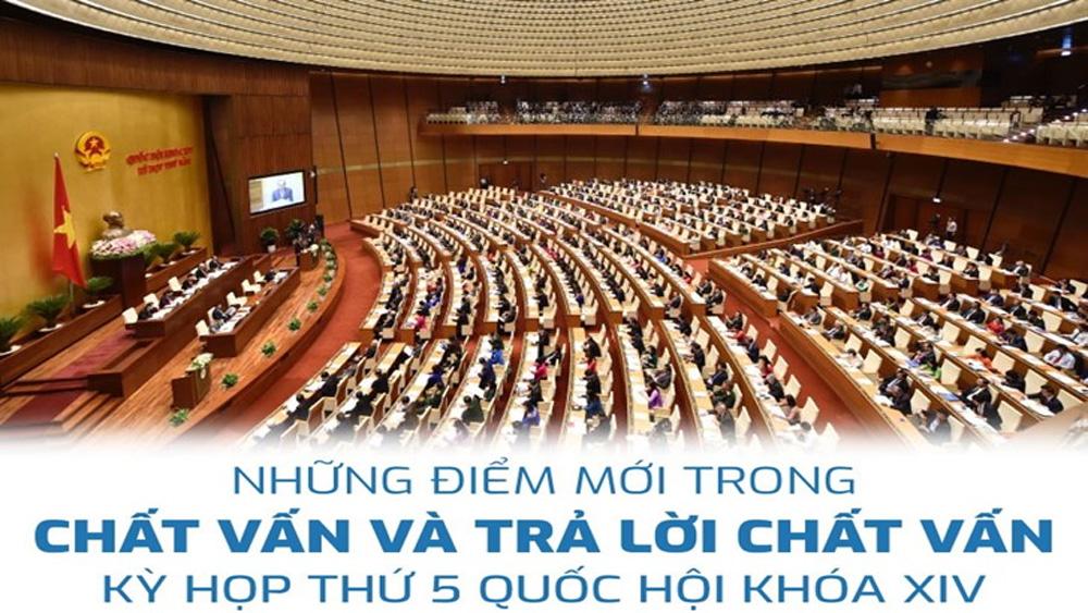 Những điểm mới trong chất vấn và trả lời chất vấn tại kỳ họp thứ 5, Quốc hội khóa XIV