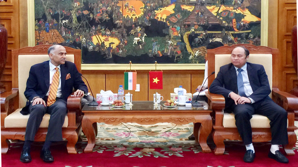 Chủ tịch UBND tỉnh Bắc Giang Nguyễn Văn Linh tiếp Đại sứ Ấn Độ Parvathaneni Harish