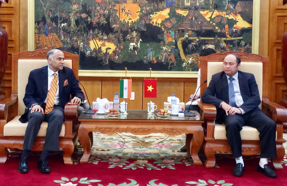 Chủ tịch UBND tỉnh, Bắc Giang, Nguyễn Văn Linh tiếp Đại sứ Ấn Độ, Parvathaneni Harish