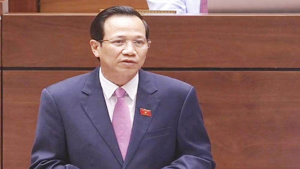 """Đại biểu chất vấn """"nóng"""" Bộ trưởng Đào Ngọc Dung về tình trạng lao động Việt Nam tại Hàn Quốc bỏ trốn"""