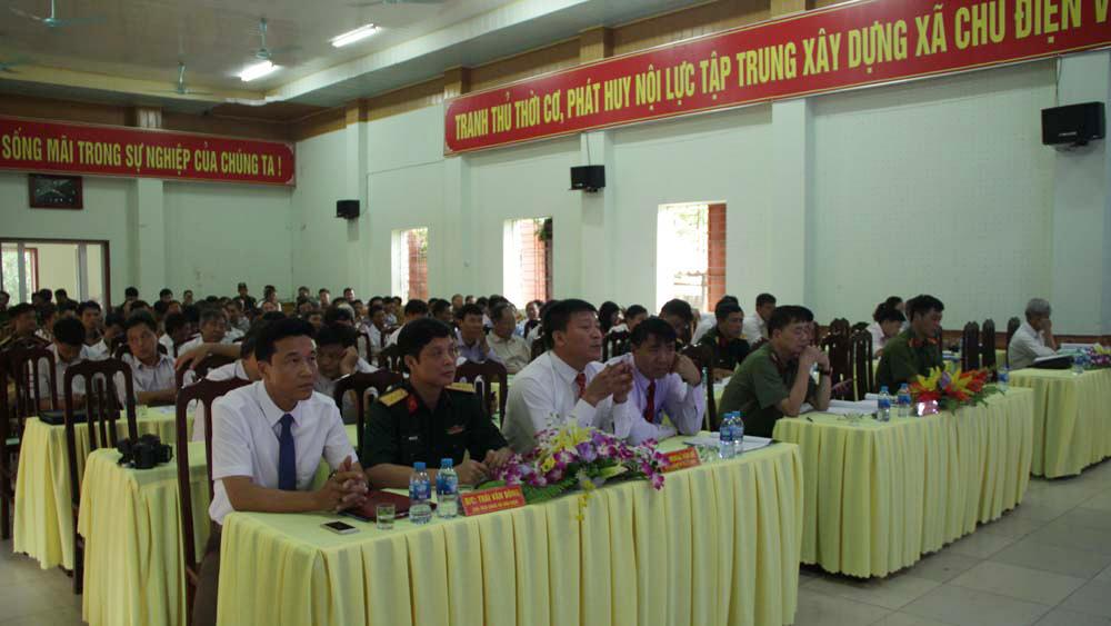 """Hội nghị xây dựng mô hình điểm xã """"An toàn về an ninh trật tự"""" tại Chu Điện"""