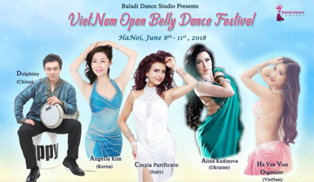 Vietnamese, int'l belly dancers, dazzling performances, excellent performance, Vietnam Open Belly Dance Festival, diverse activities, opportune occasion, impressive performances
