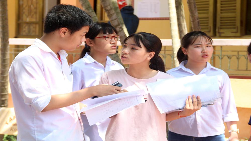 thi tuyển sinh lớp 10, năm học 2018-2019, môn Toán