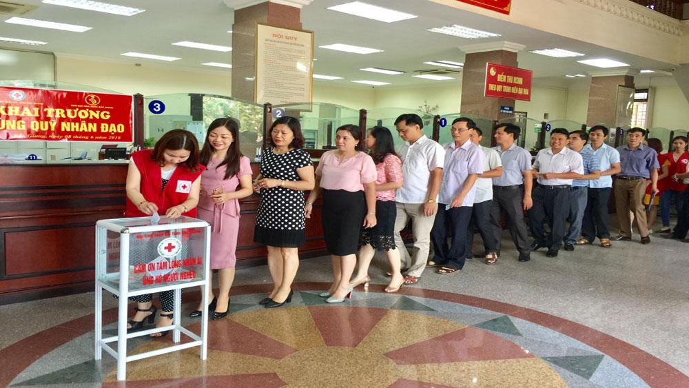Khai trương thùng quỹ nhân đạo tại hệ thống kho bạc nhà nước tỉnh Bắc Giang