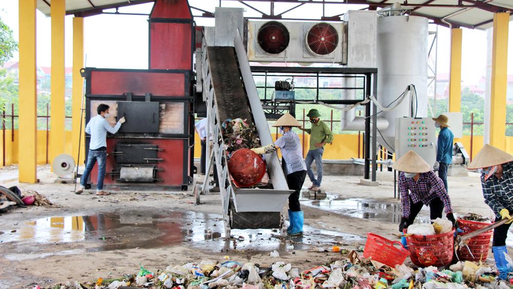 Lò đốt rác xã Thanh Hải (Lục Ngạn): Giảm rác tồn lưu, môi trường xanh - sạch