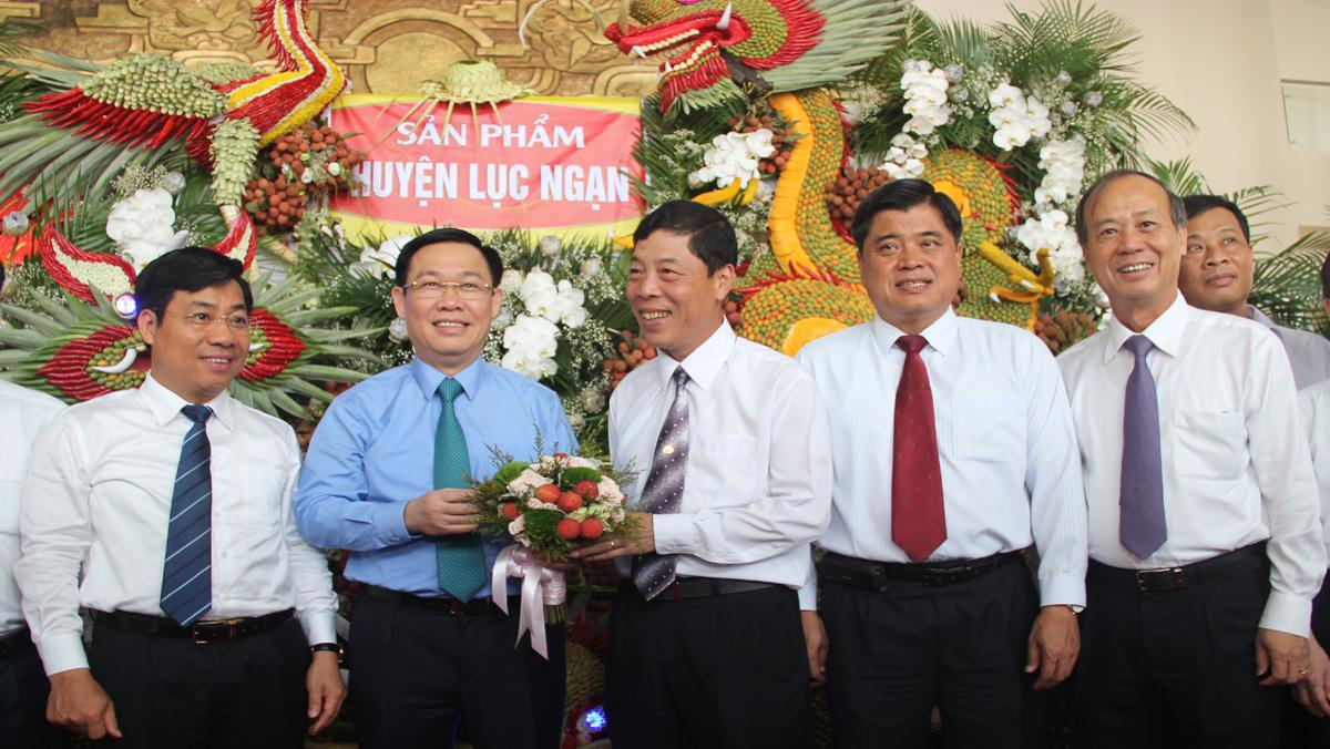 Toàn cảnh Diễn đàn kinh tế về sản xuất, tiêu thụ vải thiều và các nông sản chủ lực của tỉnh Bắc Giang