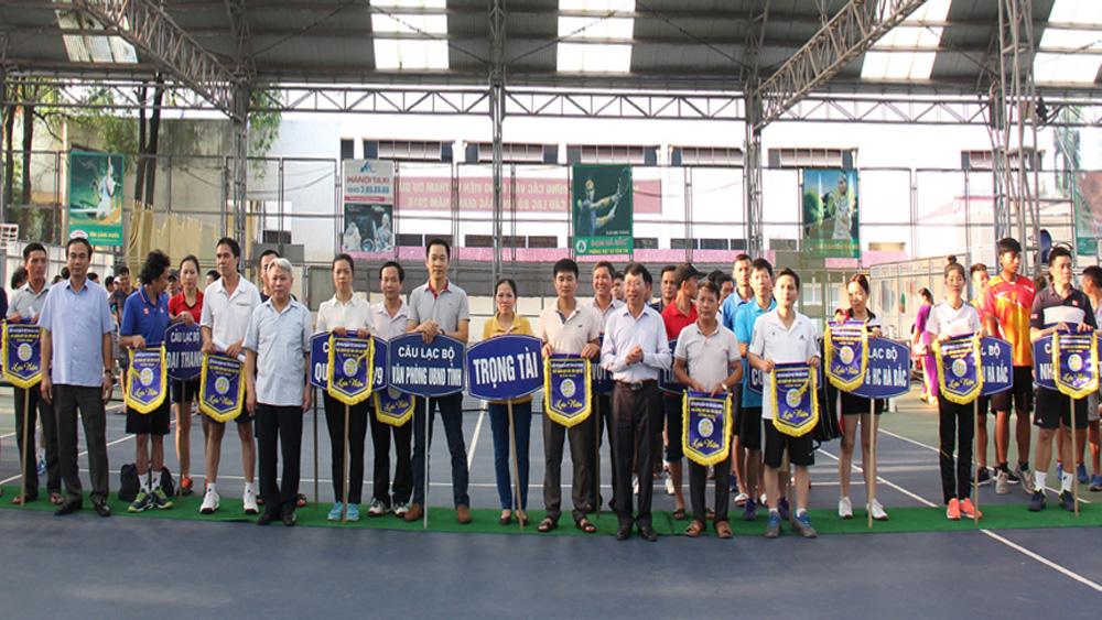 Khai mạc giải Quần vợt các câu lạc bộ tỉnh Bắc Giang năm 2018