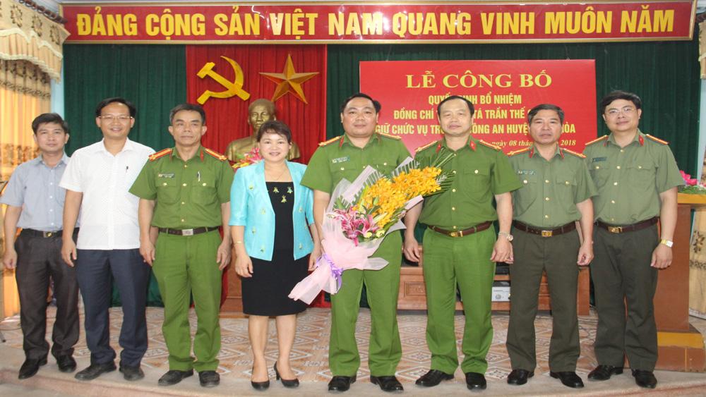 Thượng tá Trần Thế Cường giữ chức Trưởng Công an huyện Hiệp Hòa