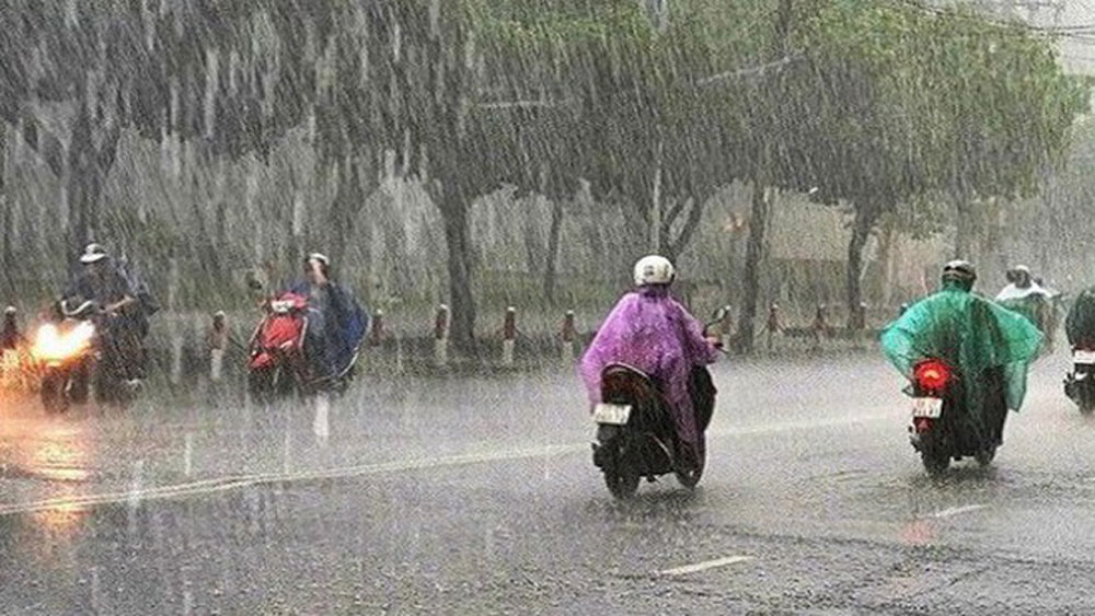Khu vực Hà Nội, mưa rào,  3 đêm sắp tới