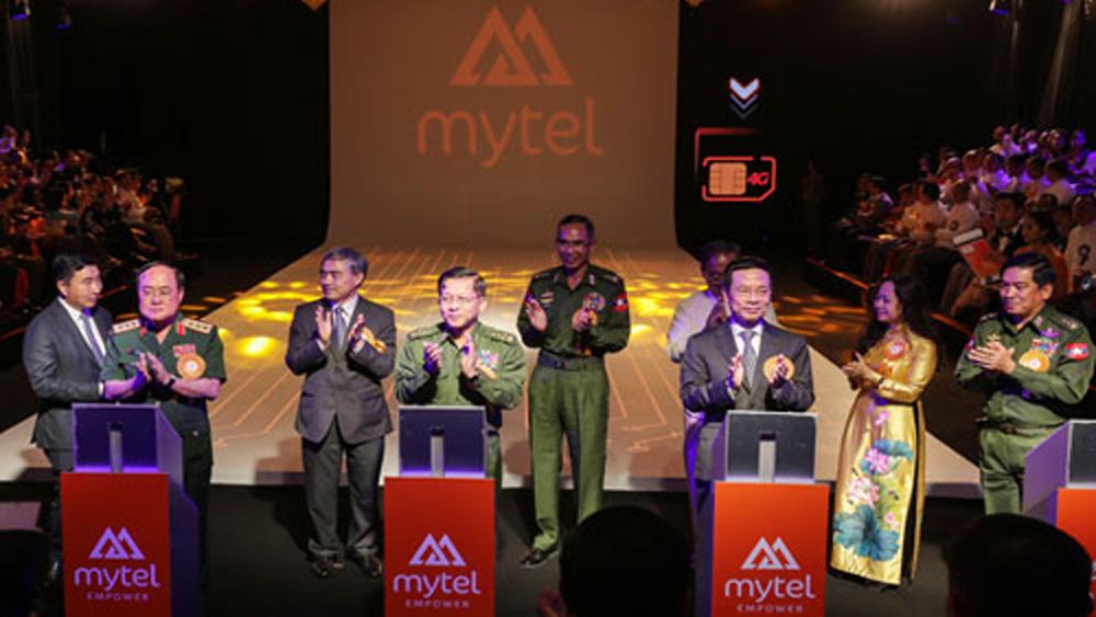 Viettel khai trương, mạng di động Mytel, Myanmar