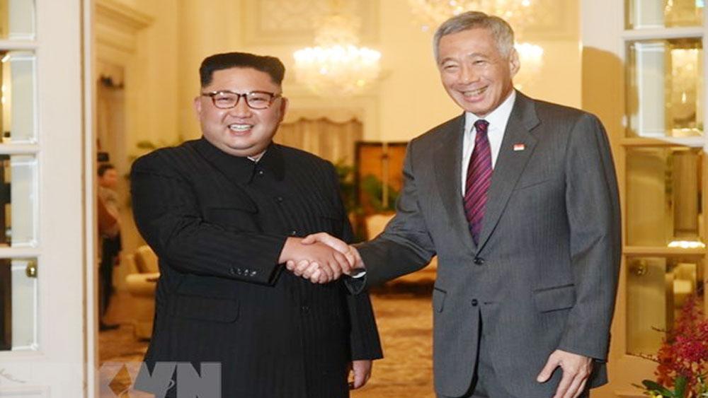 Thủ tướng Lý Hiển Long gặp nhà lãnh đạo Triều Tiên Kim Jong-Un