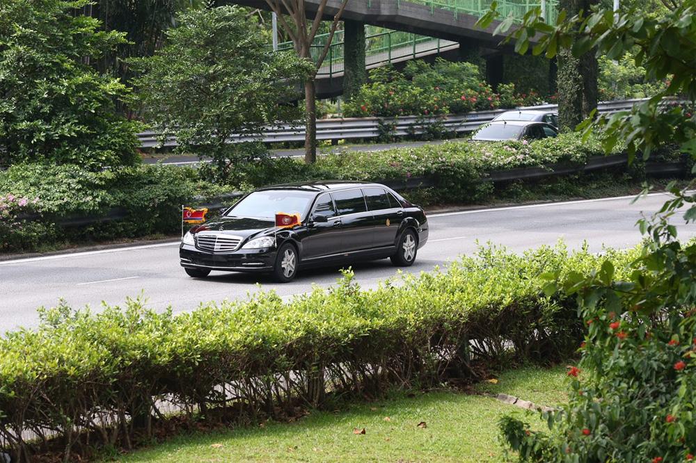 vệ sĩ áo đen, Triều Tiên, ông Kim Jong-un, Singapore, Tổng thống Mỹ