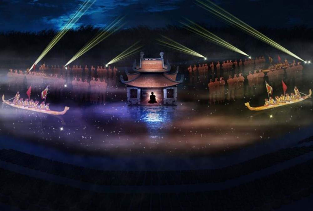 Vietnamese show, live entertainment show, Stevie Award, Quintessence of Tonkin, Innovation in Media, Visual Communications & Entertainment, peaceful landscapes, contemporary perspective, various elements