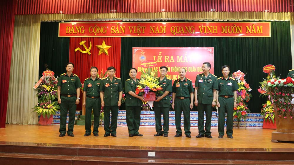 Ra mắt Ban liên lạc truyền thống Cựu chiến binh Quân đoàn 2 huyện Lục Nam