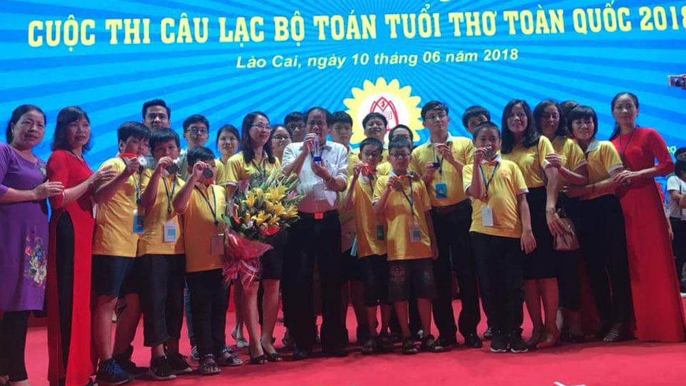 TP Bắc Giang giành 2 cúp Bạc Cuộc thi Câu lạc bộ Toán tuổi thơ toàn quốc