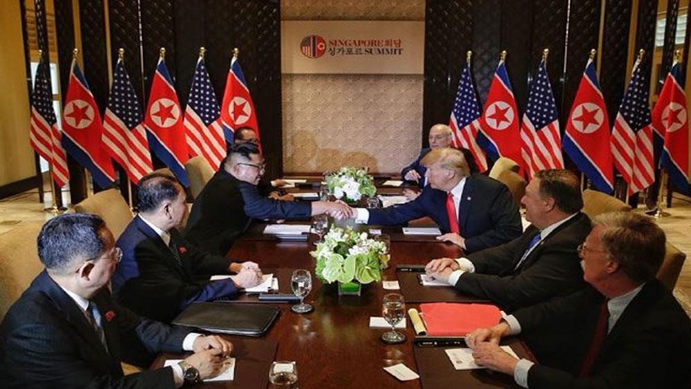 Hội nghị thượng đỉnh Mỹ-Triều Tiên: Kết thúc hội đàm riêng, hai bên hội đàm song phương mở rộng