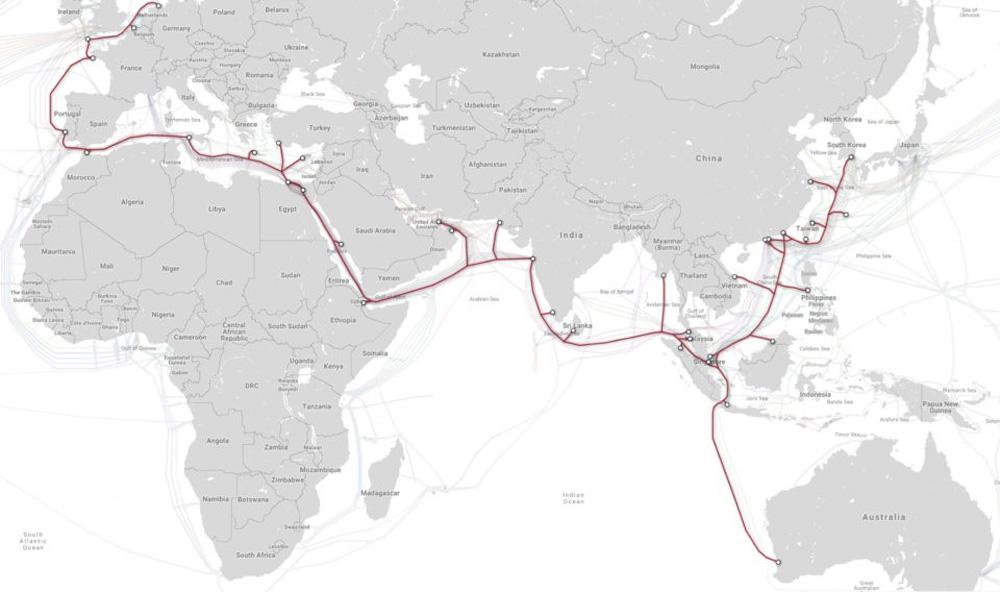 chiều dài, khoảng cách, Trái Đất, Mặt Trăng, vòng quanh thế giới, cáp biển, hạ tầng Internet