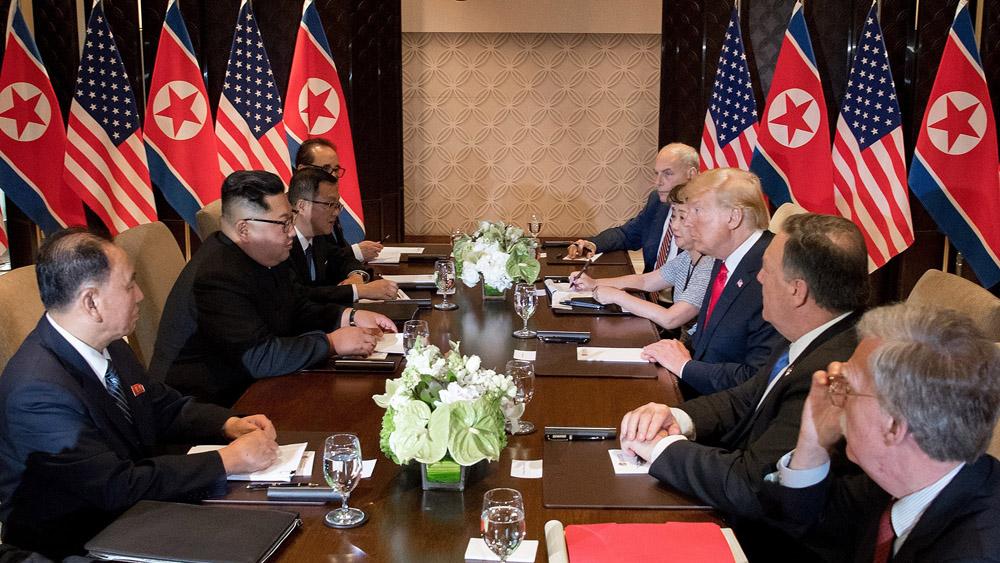 Hội nghị thượng đỉnh, Mỹ - Triều Tiên, kết thúc, cuộc hội đàm, mở rộng, bắt đầu, bữa trưa, làm việc