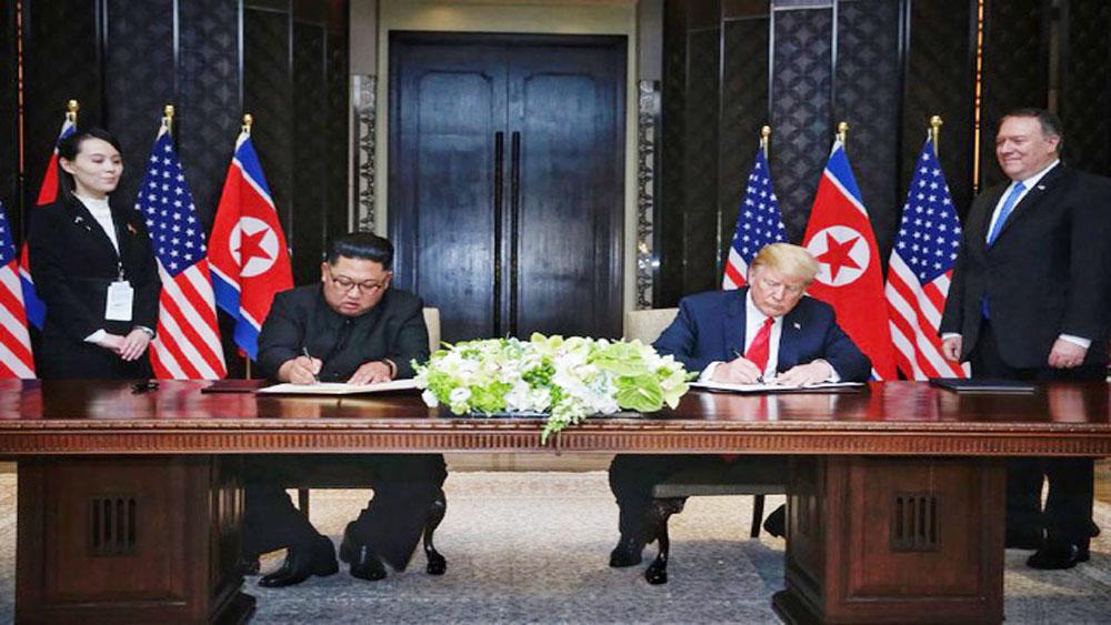 Lãnh đạo Mỹ, Triều Tiên, ký Thỏa thuận Singapore
