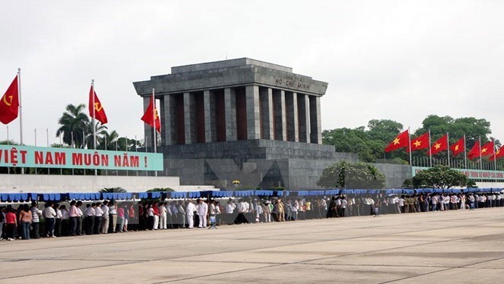 Tạm ngừng, tổ chức, lễ viếng, Lăng Chủ tịch Hồ Chí Minh đến hết 15-8