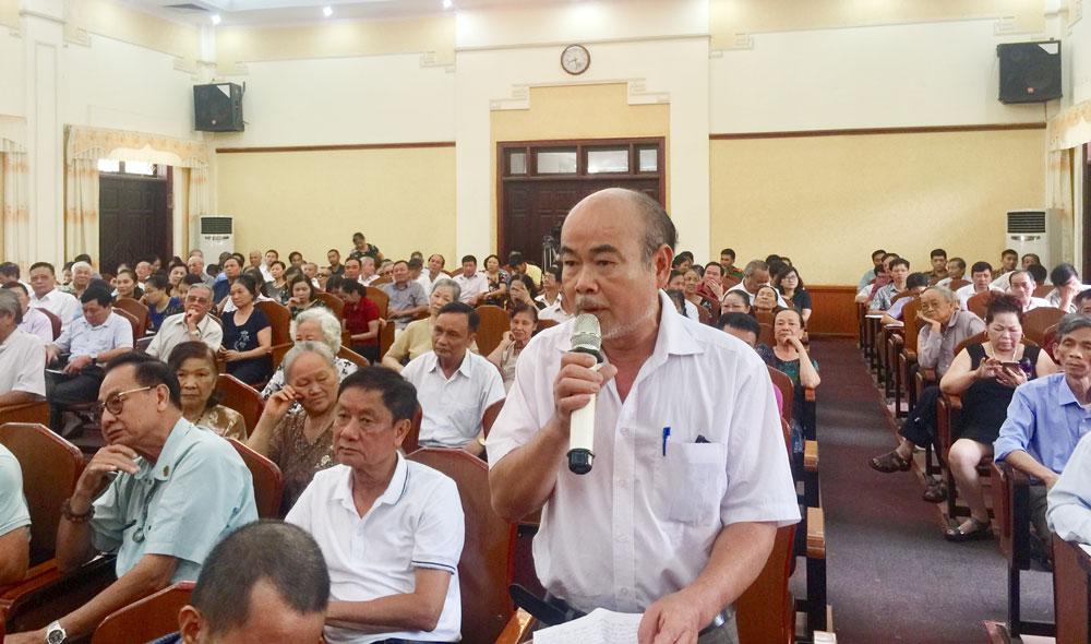 Tiếp xúc cử tri, Bắc Giang, Bí thư Tỉnh ủy Bùi Văn Hải, tình trạng nước thải, ô nhiễm môi trường