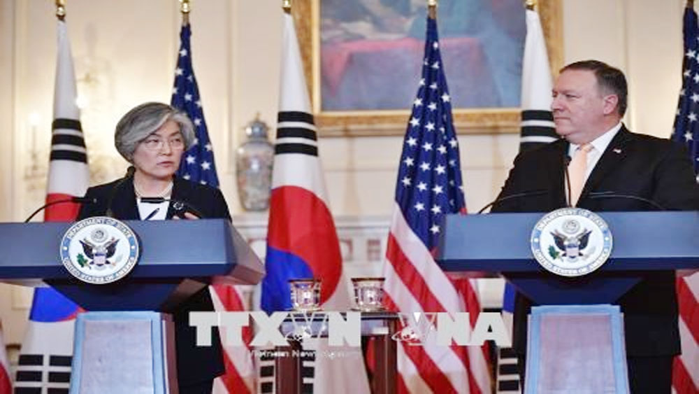 Tổng thống Trump, bảo vệ, tuyên bố, chấm dứt, tập trận, Hàn Quốc