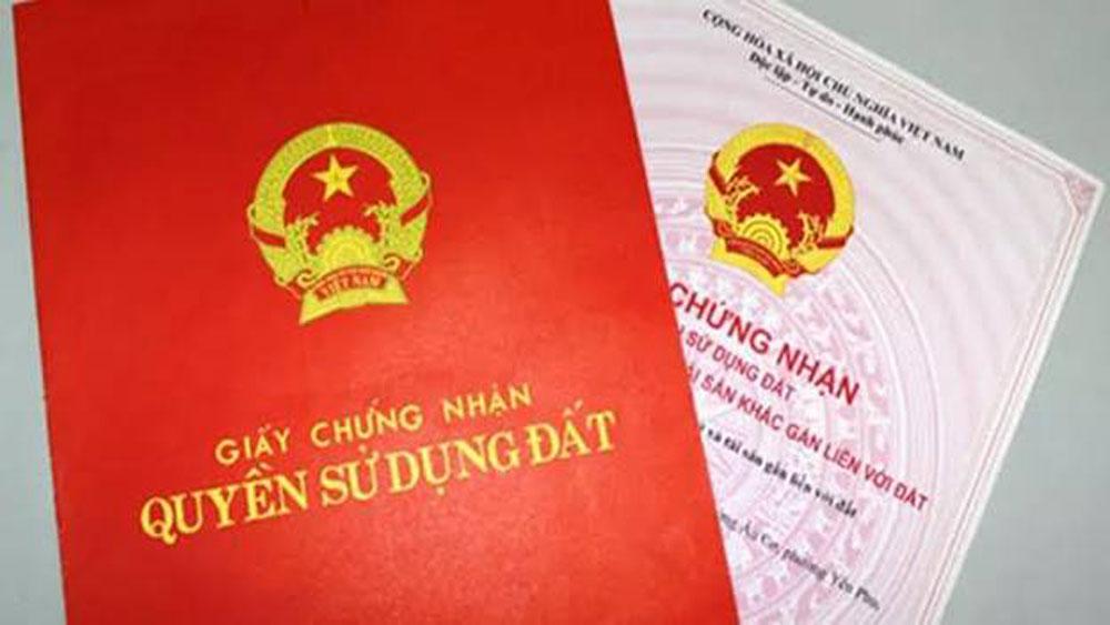 Bắc Giang, cấp giấy chứng nhận quyền sử dụng đất, tổ chức, kế hoạch