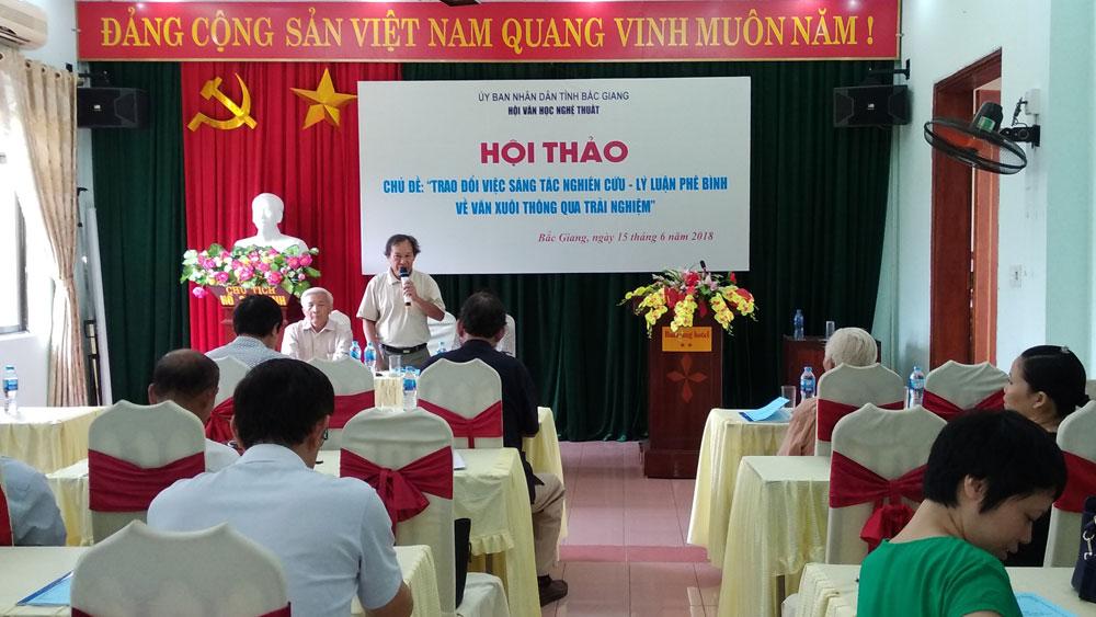 Hội Văn học nghệ thuật, Bắc Giang, hội thảo, văn xuôi