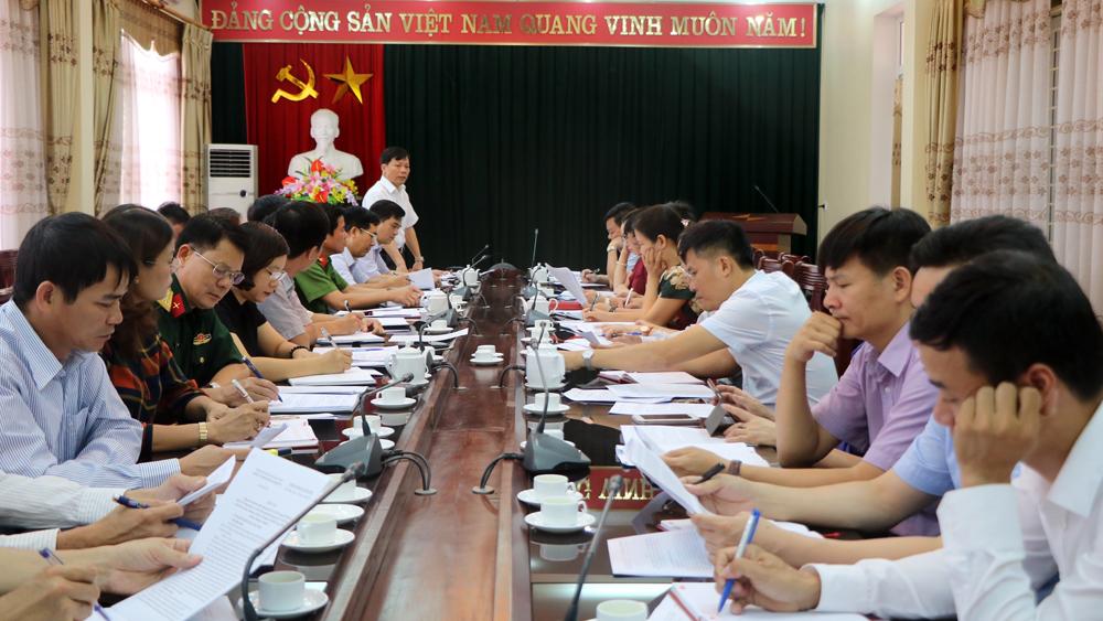 Đoàn công tác của Ban Tổ chức Trung ương làm việc với Ban Thường vụ Thành ủy