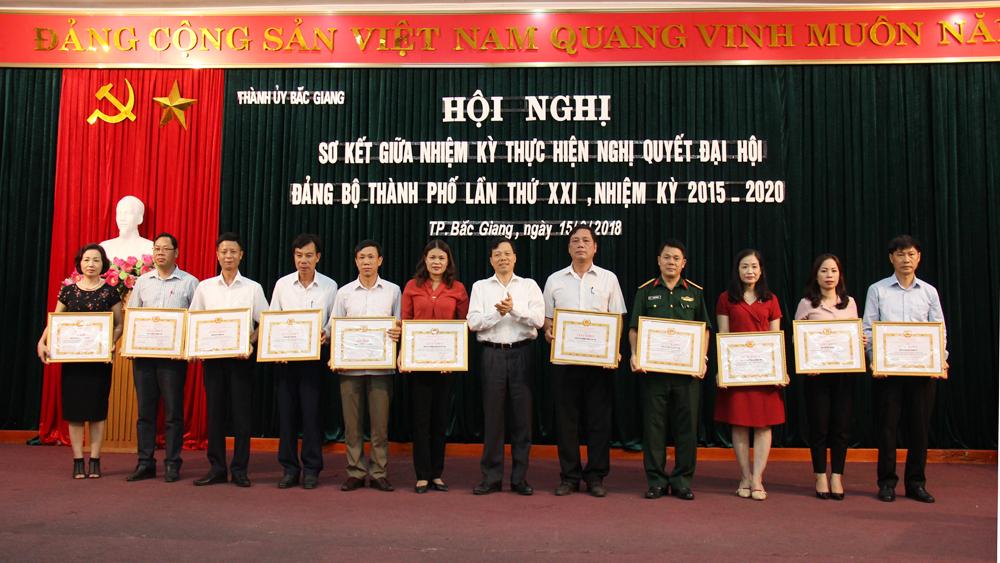 Hoàn thành 14/23 chỉ tiêu Nghị quyết Đại hội Đảng bộ TP Bắc Giang lần thứ XXI