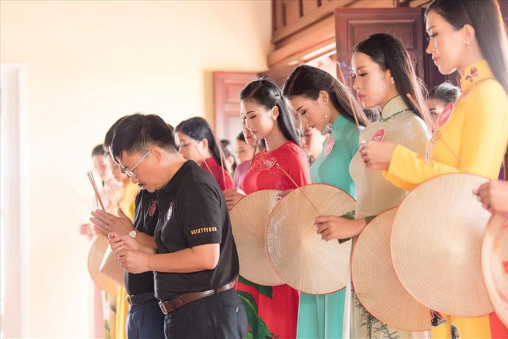 Hoa hậu Việt Nam 2018, thí sinh, dâng hương, tưởng niệm, tượng đài chiến thắng Núi Bà
