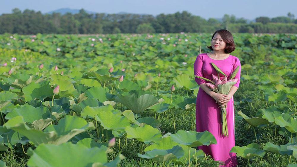 sen, tham quan, chụp ảnh, tỉnh Bắc Giang