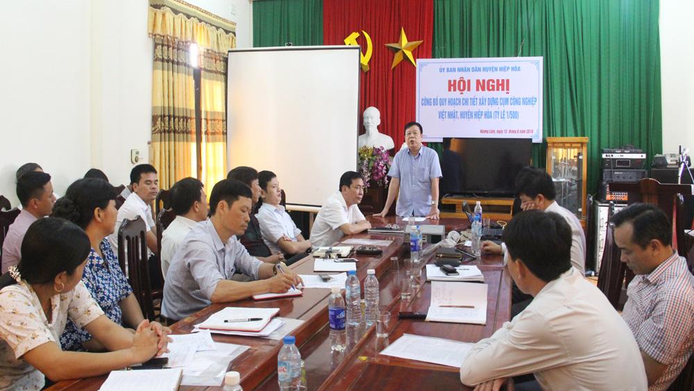 Công bố quy hoạch chi tiết xây dựng Cụm công nghiệp Việt Nhật