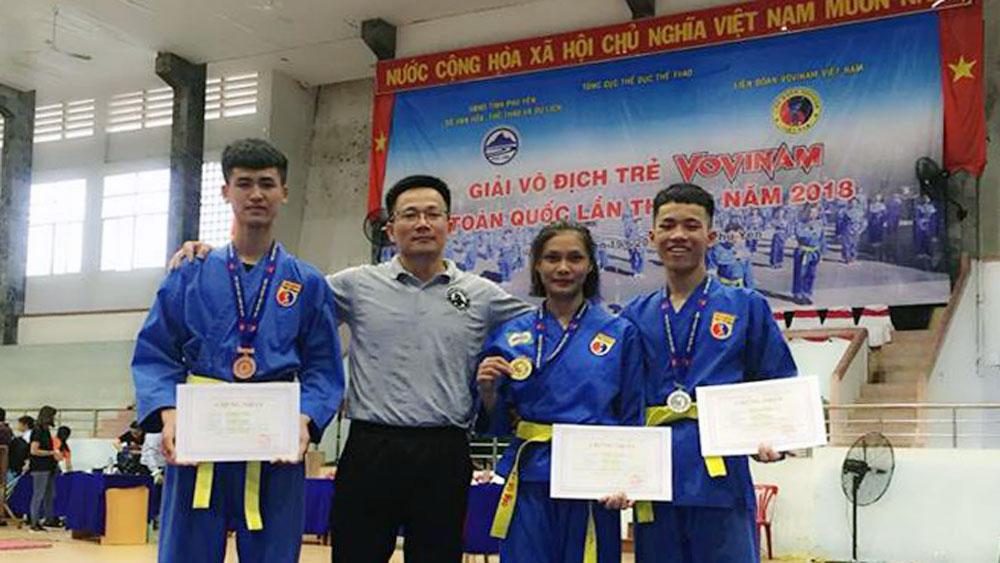 Vovinam, giành 9 huy chương, giải trẻ, quốc gia.