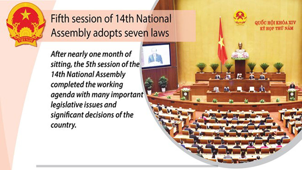 National Assembly adopts seven laws during fifth session