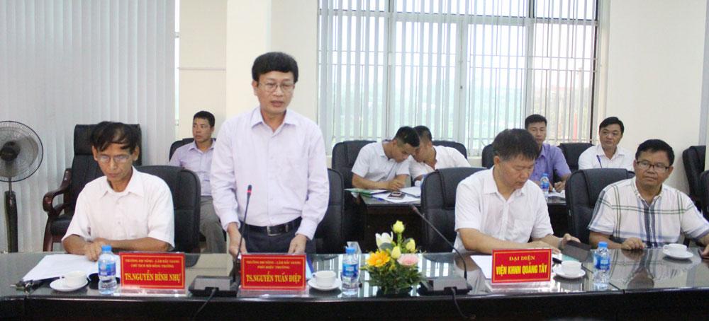 Trường Đại học Nông lâm Bắc Giang, kỹ thuật nông nghiệp công nghệ cao, Phó Chủ tịch UBND tỉnh Dương Văn Tháí, Nông nghiệp và PTNT, Sở Khoa học và Công nghệ