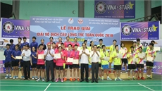 Bắc Giang đoạt Huy chương Vàng đồng đội Giải vô địch Cầu lông trẻ toàn quốc