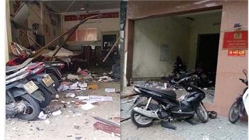 Tạm giữ nghi can gây ra vụ nổ tại trụ sở công an