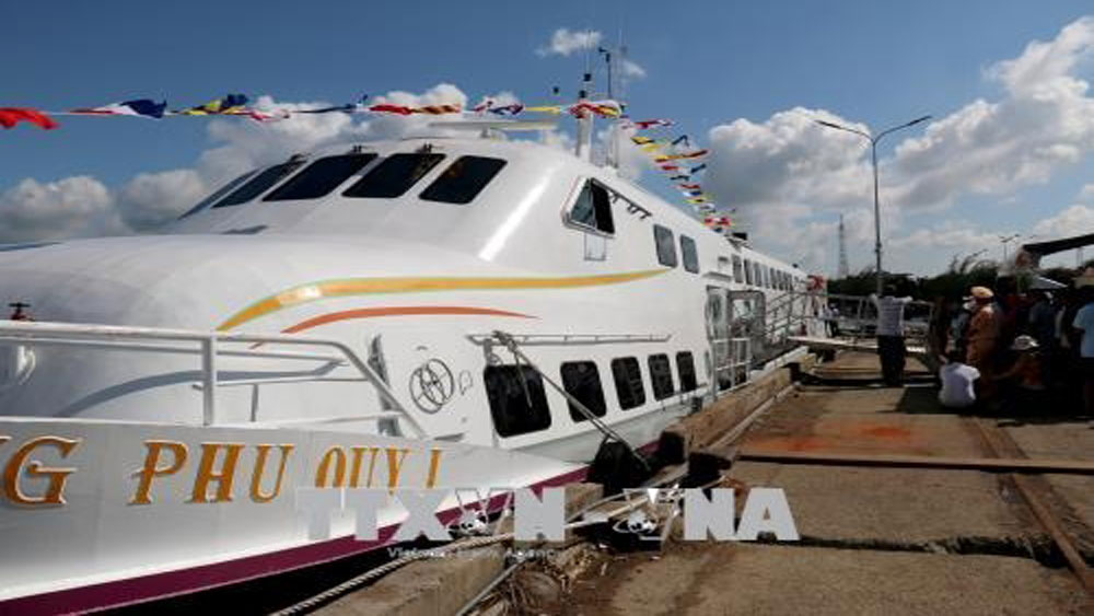 Phan Thiet, Phu Quy, high-speed, boat service, Superdong, total investment,  air-conditioners, comfortable seats, local socio-economic development