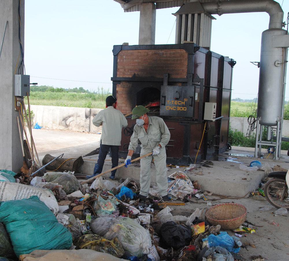 Chương trình quốc gia xây dựng nông thôn mới, Bắc Giang, lò đốt rác, xử lý rác