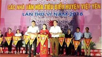 Liên hoan các nhà văn hóa tiêu biểu huyện Việt Yên lần thứ VI