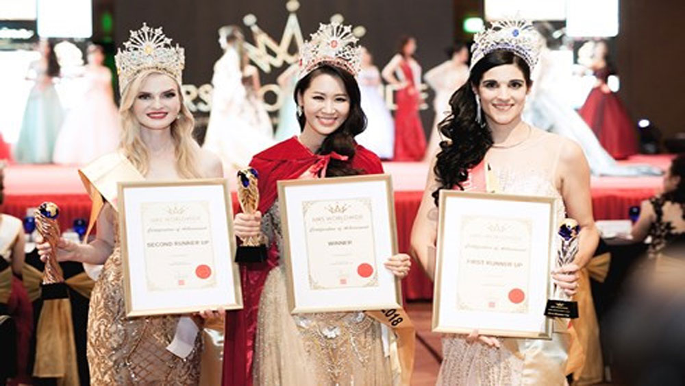 Vietnamese representative crowned Mrs Worldwide 2018