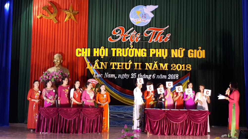 Lục Nam tổ chức thi chi hội trưởng phụ nữ giỏi