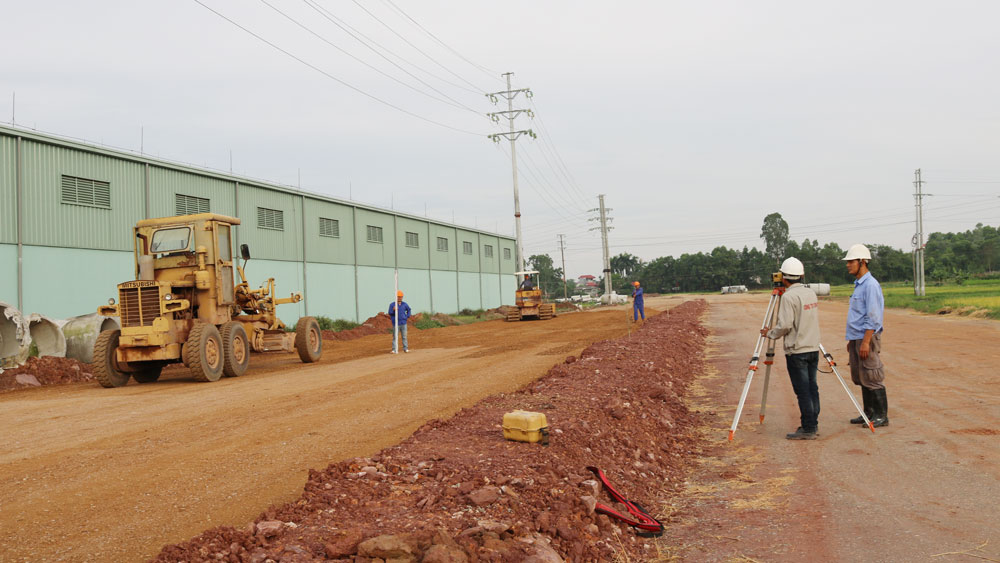 Khẩn trương thi công đường vành đai Đông Bắc TP Bắc Giang