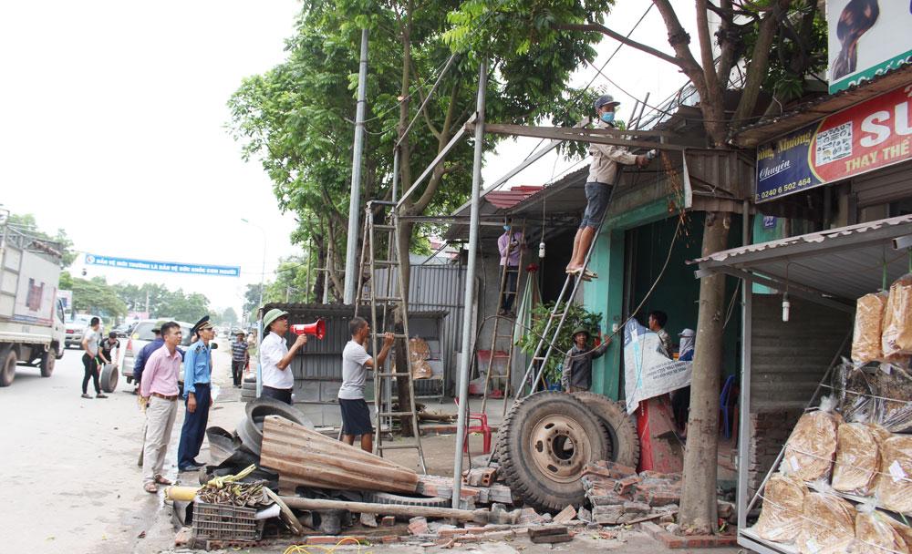 Việt Yên, giải tỏa, lấn chiếm, hành lang quốc lộ 37