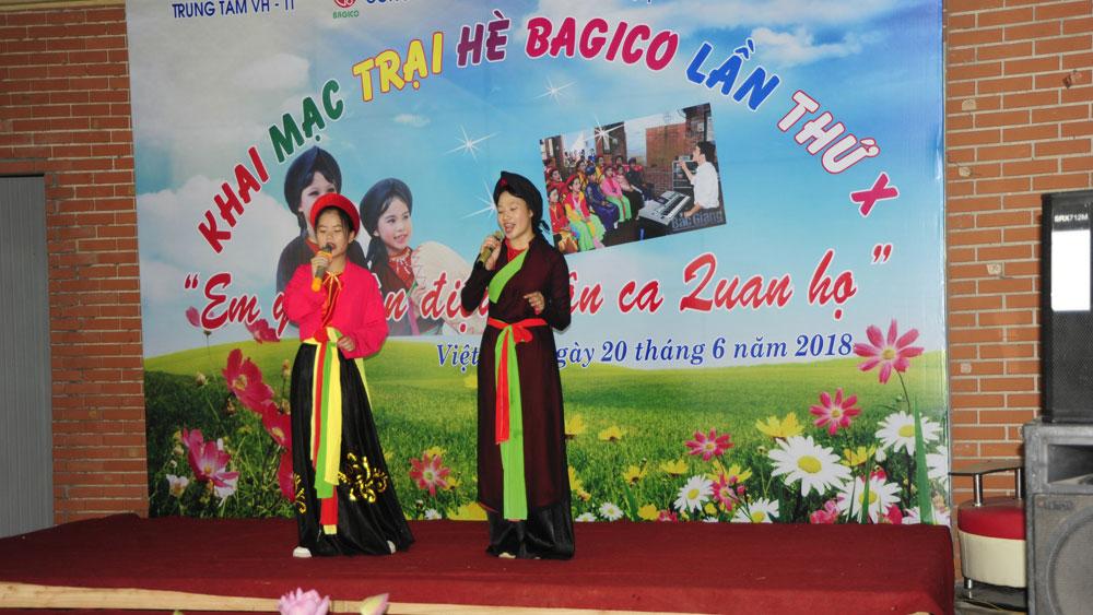 """Câu lạc bộ """"Em yêu làn điệu dân ca quan họ"""", thiếu nhi, Việt Yên, Bắc Giang"""