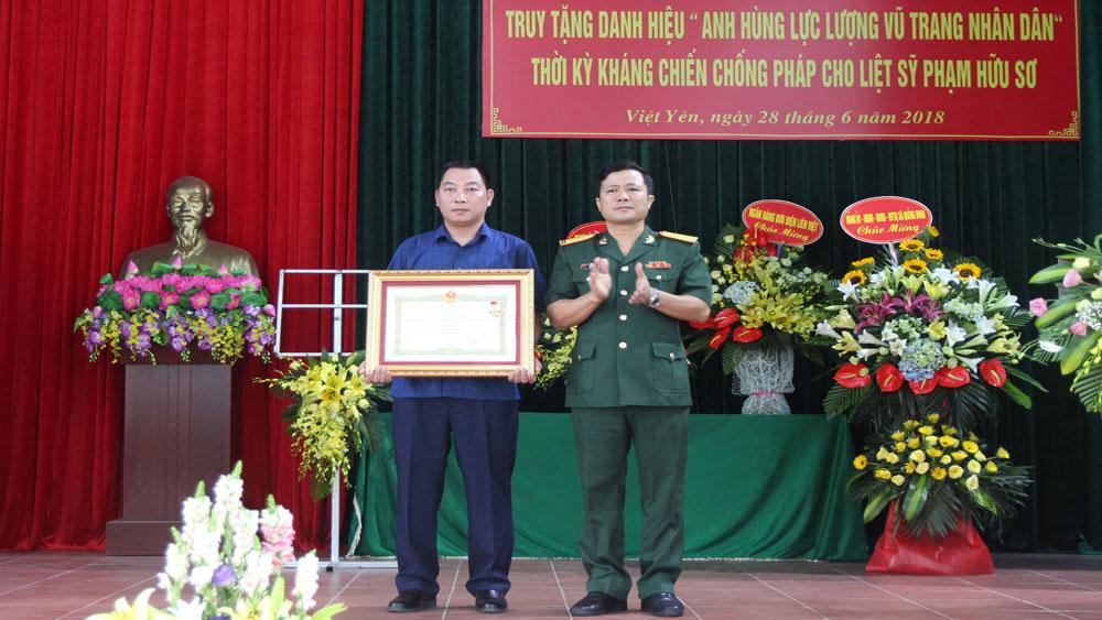 Truy tặng danh hiệu Anh hùng lực lượng vũ trang nhân dân cho liệt sĩ Phạm Hữu Sơ