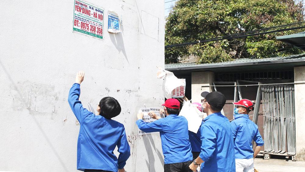 """phong trào """"Chủ nhật xanh"""", cơ sở đoàn, huyện Yên Dũng, Bắc Giang, xây dựng nông thôn mới."""