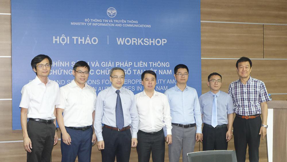 Việt Nam, giải pháp liên thông, chứng thực chữ ký số, bảo đảm an toàn, chính phủ điện tử